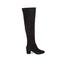 Dune Women's Sanford Suede Thigh High Heeled Boots - Black: Image 1
