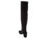 Dune Women's Sanford Suede Thigh High Heeled Boots - Black: Image 4