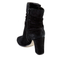 Dune Women's Onyx Suede Heeled Ankle Boots - Black: Image 4