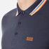 BOSS Green Men's Plisy Long Sleeve Polo Shirt - Blue: Image 5