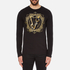 Versace Jeans Men's Large Print Long Sleeve T-Shirt - Black: Image 1
