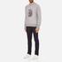 rag & bone Men's Okay Sweatshirt - Grey Heather: Image 4