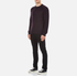 rag & bone Men's Wyatt Crew Neck Sweatshirt - Burgundy: Image 4