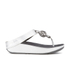 FitFlop Women's Superchain Imi-Leather Toe Post Sandals - Silver: Image 3