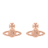 Vivienne Westwood Jewellery Women's Grace Bas Relief Stud Earrings - Pink Gold: Image 1
