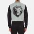 Versus Versace Men's Reverse Logo Zip Through Sweatshirt - Black: Image 3