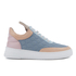 Filling Pieces Women's Quilted Low Top Trainers - Moon Pink/Blue: Image 1