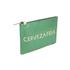 Clare V. Women's Flat Clutch Bag - Emerald Nappa With Blush Cervezafria: Image 3