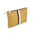 Clare V. Women's Supreme Flat Clutch Bag - Camel Black/White Stripes: Image 3