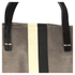 Clare V. Women's Supreme Simple Tote Bag - Dark Grey Suede With Black/White Stripes: Image 4