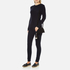 Loeffler Randall Women's Suede Cross Body Pouch - Black/Black Natural: Image 3
