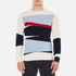 GANT Rugger Men's Intarsia Block Jacquard Jumper - Cream: Image 1