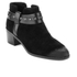 Clarks Women's Breccan Shine Suede Heeled Ankle Boots - Black: Image 2