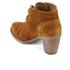 Clarks Women's Carleta Lyon Suede Heeled Ankle Boots - Tan: Image 4