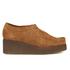 Clarks Originals Women's Peggy Bee Platform Shoes - Cola Suede: Image 1