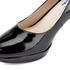 Clarks Women's Kendra Sienna Patent Platform Court Shoes - Black: Image 5
