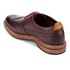 Clarks Men's Pitney Limit Leather Brogues - Chestnut: Image 4