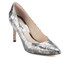 Clarks Women's Dinah Keer Leather Metallic Court Shoes - Silver Metallic: Image 2