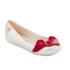 Mini Melissa Vivienne Westwood Kids' Ultragirl Cherub Ballet Flats - Pearl Red: Image 2