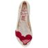 Mini Melissa Vivienne Westwood Kids' Ultragirl Cherub Ballet Flats - Pearl Red: Image 3