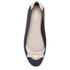 Melissa Women's Pump Bow Ballet Flats - Navy Contrast: Image 3