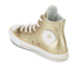Converse Kids' Chuck Taylor All Star Metallic Leather Hi-Top Trainers - Light Gold/White/White: Image 4