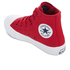 Converse Kids Chuck Taylor All Star II Tencel Canvas Hi-Top Trainers - Salsa Red/White/Navy: Image 4