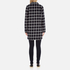 Maison Scotch Women's Bonded Wool Coat In Checks & Solids - Multi: Image 3