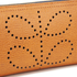 Orla Kiely Women's Big Zip Leather Wallet - Tan: Image 3