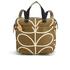 Orla Kiely Women's Linear Stem Print Small Backpack - Camel: Image 1