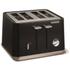Morphy Richards Aspect Steel 4 Slice Toaster and Kettle Bundle - Black: Image 8