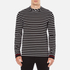 McQ Alexander McQueen Men's Long Sleeve Crew Stripe T-Shirt - Stripe White/Black: Image 1