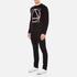 McQ Alexander McQueen Men's Abstract McQ Printed Long Sleeve Crew T-Shirt - Darkest Black: Image 4