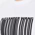 Alexander Wang Men's Barcode Logo Long Sleeve T-Shirt - White: Image 5