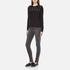 MICHAEL MICHAEL KORS Women's Slash Neck Crew Sweater - Black: Image 4