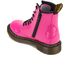 Dr. Martens Kids' Delaney Patent Leather Lace Boots - Hot Pink: Image 4