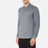 Lacoste Men's Long Sleeve Marl Polo Shirt - Navy Blue/Mouline: Image 2