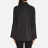 Gestuz Women's Maiden Silk Blouse With Bell Sleeves and Silk Buttons - Black: Image 3
