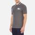 Lacoste L!ve Men's Large Logo Short Sleeve Polo Shirt - Medium Grey/Jaspe White: Image 2