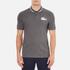 Lacoste L!ve Men's Large Logo Short Sleeve Polo Shirt - Medium Grey/Jaspe White: Image 1