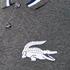Lacoste L!ve Men's Large Logo Short Sleeve Polo Shirt - Medium Grey/Jaspe White: Image 5