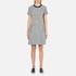 Karl Lagerfeld Women's Bonded Tweed Jersey Dress - Grey Melange: Image 1