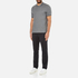 Michael Kors Men's Double Collar Zip Polo Shirt - Ash Melange: Image 4