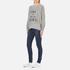 Wildfox Women's Like Button Kims Sweatshirt - Heather Vanilla Latte: Image 4