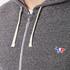 Maison Kitsuné Men's Tricolor Patch Zip Hoody - Black Melange: Image 5