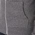 Maison Kitsuné Men's Tricolor Patch Zip Hoody - Black Melange: Image 6