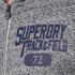 Superdry Men's Trackster Zip Hoody - Flint Grey Grit: Image 5
