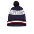 Superdry Men's Super Stripe Logo Beanie Hat - Navy Marl: Image 1