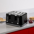 Tower T20010 4 Slice Toaster - Black: Image 6