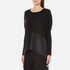 Paisie Women's Knitted Jumper with Silk Panel - Black: Image 2